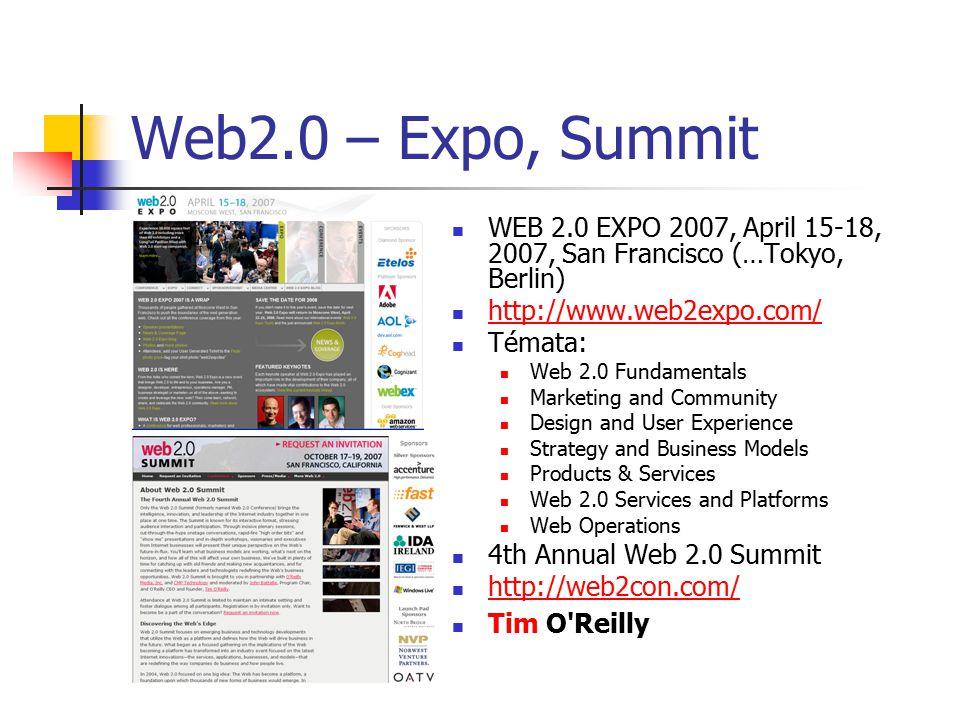 Web 2.0: technologie, aplikace RSS – Really Simple Syndication (nebo také Rich Site Summary) XML – Extensible Markup Language AJAX – Asynchonous JavaScript and XML API – Application Programming Interface blogy, wiki, folksonomie, sociální sítě mashups, tagy, microcontent, podcast/videocast