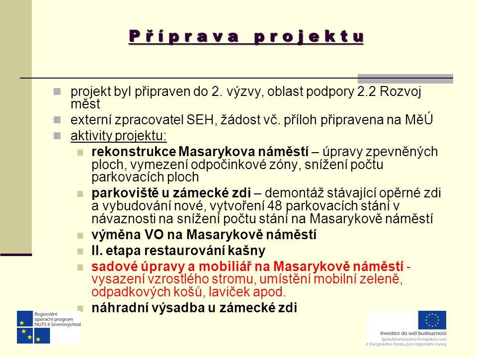 P ř í p r a v a p r o j e k t u projekt byl připraven do 2.