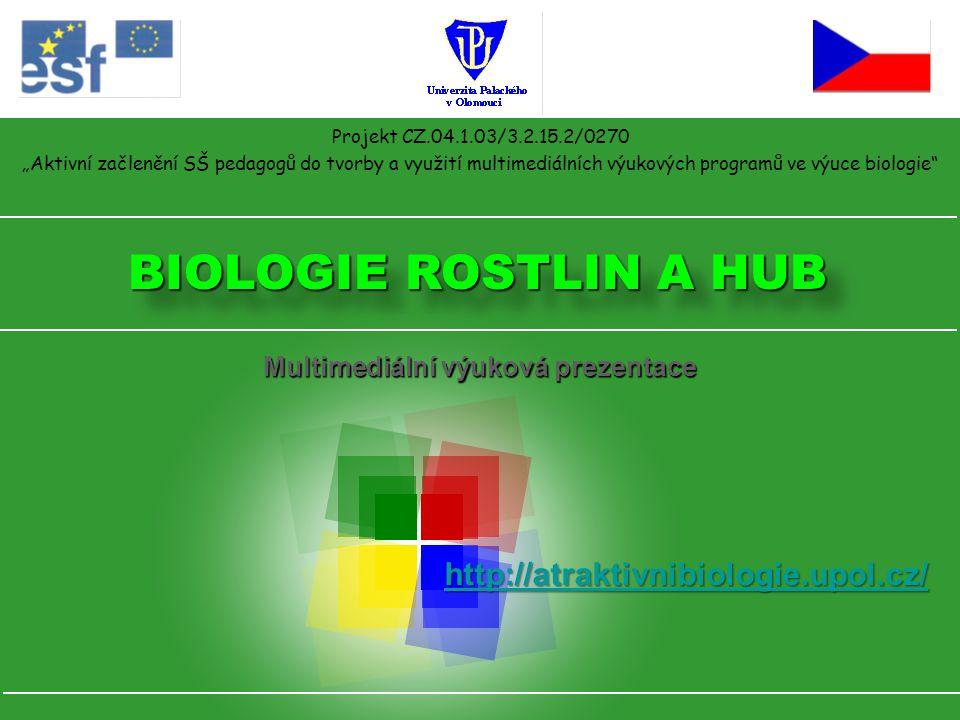 """Projekt CZ.04.1.03/3.2.15.2/0270 """"Aktivní začlenění SŠ pedagogů do tvorby a využití multimediálních výukových programů ve výuce biologie"""" BIOLOGIE ROS"""