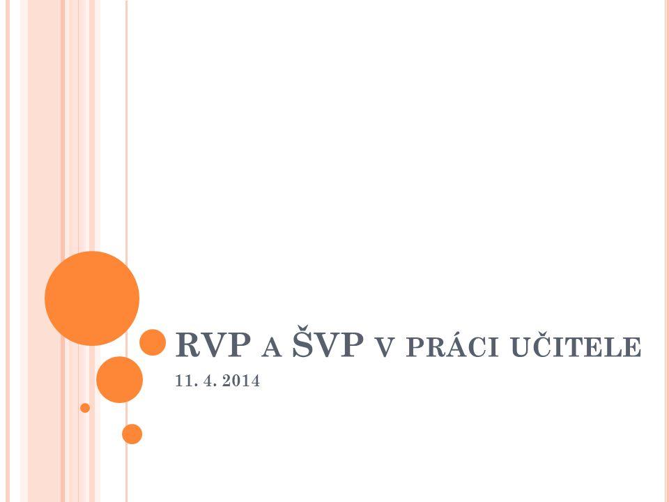 RVP A ŠVP V PRÁCI UČITELE 11. 4. 2014