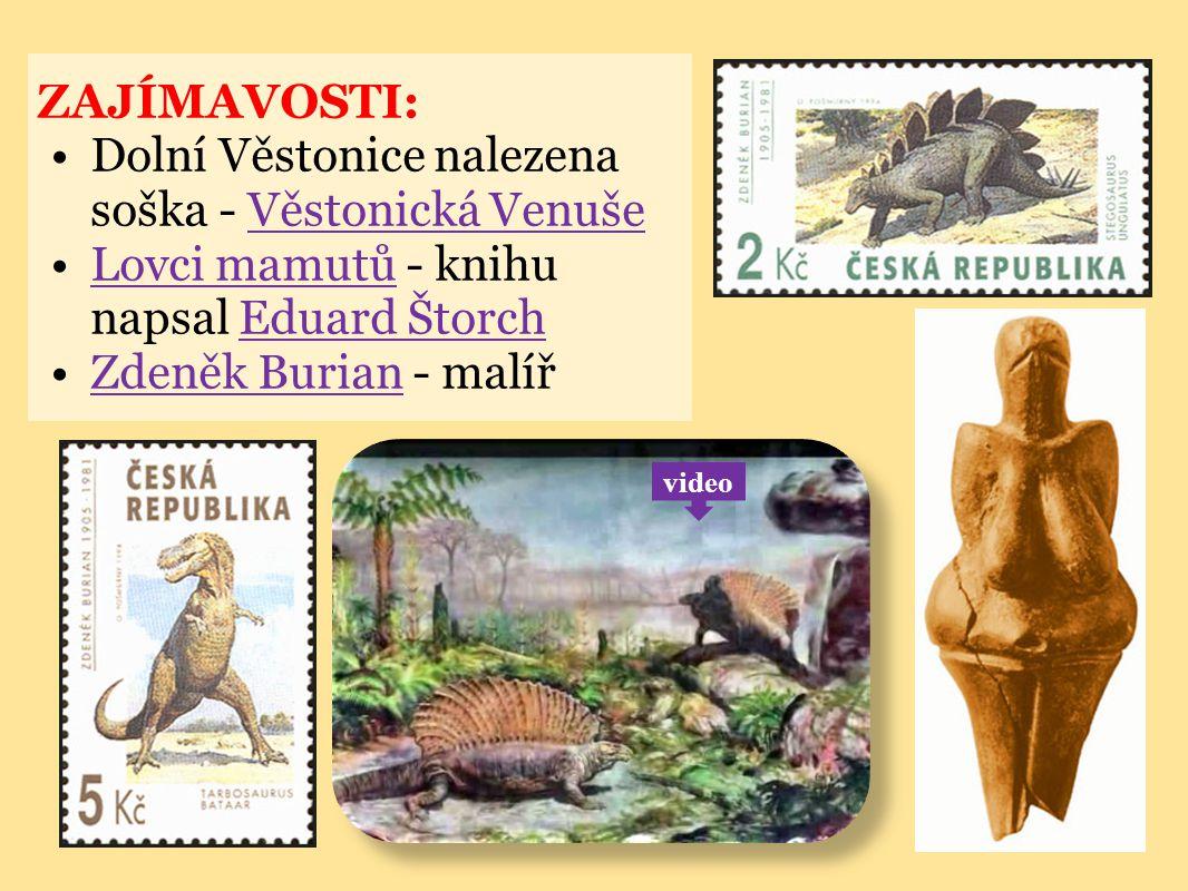 ZAJÍMAVOSTI: Dolní Věstonice nalezena soška - Věstonická VenušeVěstonická Venuše Lovci mamutů - knihu napsal Eduard ŠtorchLovci mamutůEduard Štorch Zd