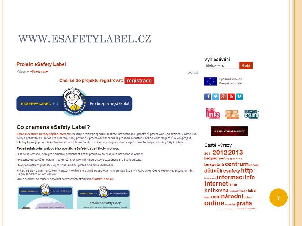 WWW. ESAFETYLABEL. EU 8