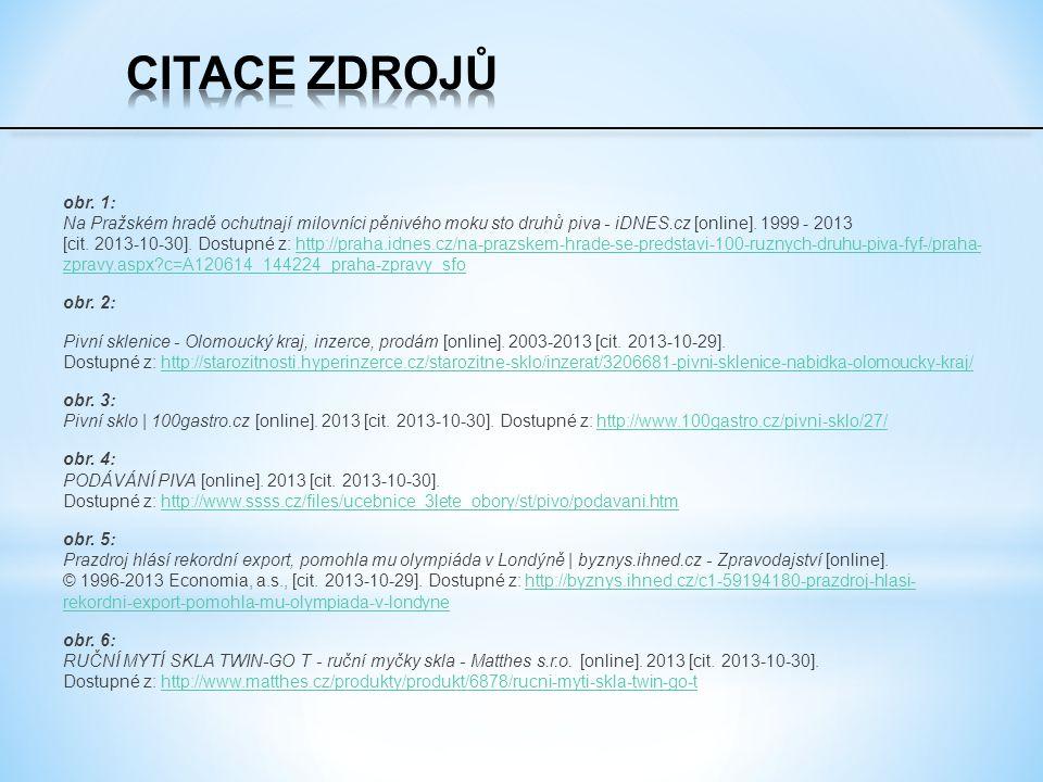 obr. 1: Na Pražském hradě ochutnají milovníci pěnivého moku sto druhů piva - iDNES.cz [online]. 1999 - 2013 [cit. 2013-10-30]. Dostupné z: http://prah