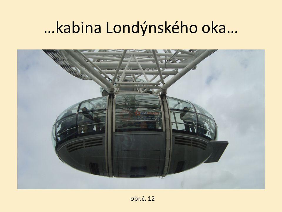 …kabina Londýnského oka… obr.č. 12