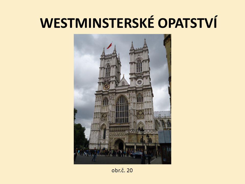 WESTMINSTERSKÉ OPATSTVÍ obr.č. 20