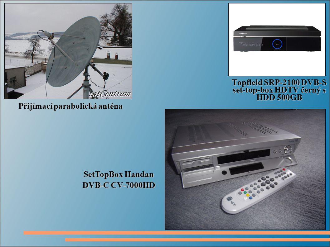 Topfield SRP-2100 DVB-S set-top-box HDTV černý s HDD 500GB Přijímací parabolická anténa SetTopBox Handan DVB-C CV-7000HD