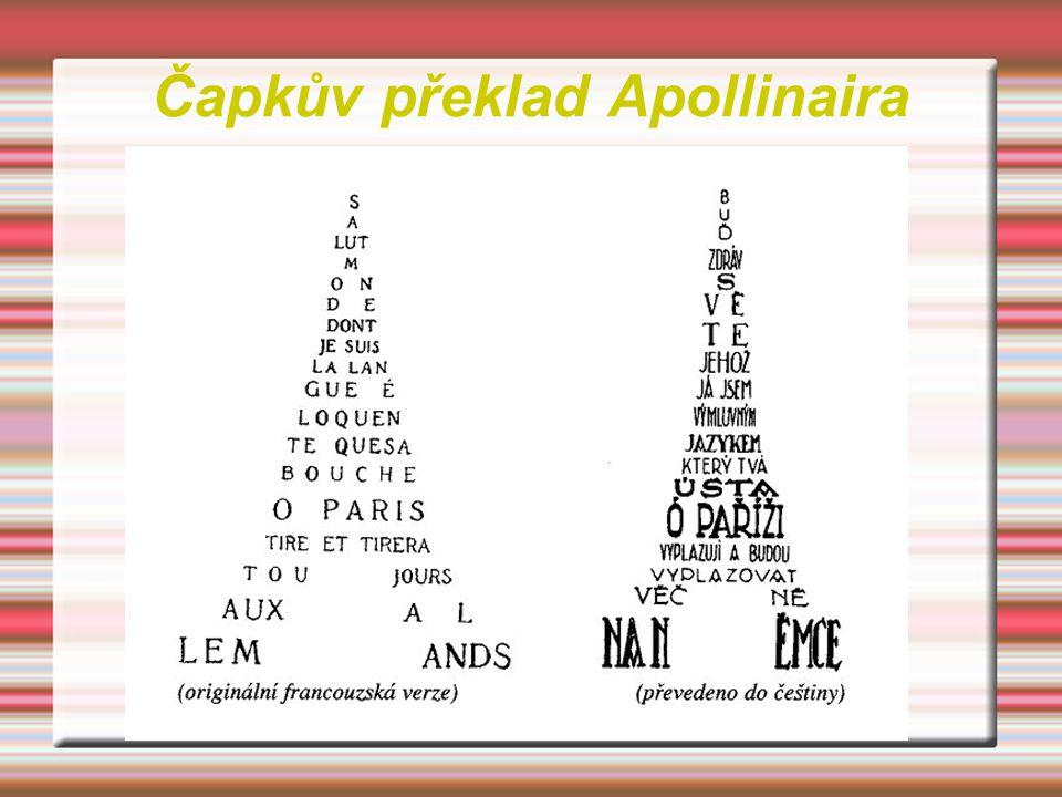 Čapkův překlad Apollinaira