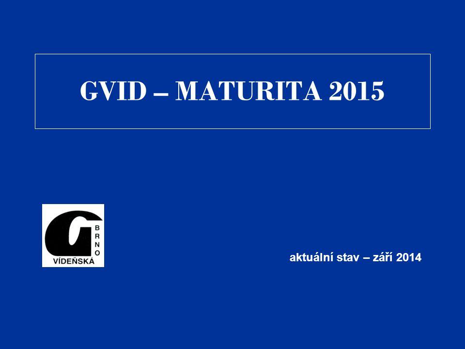 GVID – MATURITA 2015 aktuální stav – září 2014