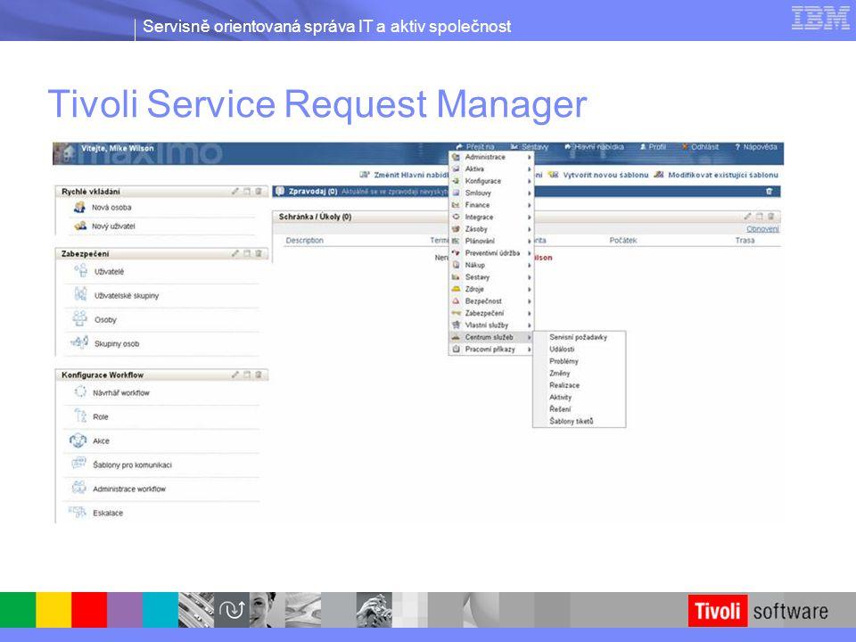 Servisně orientovaná správa IT a aktiv společnost Tivoli Service Request Manager