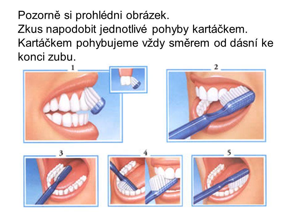 Dokresli v kolik hodin si čistíš zuby.