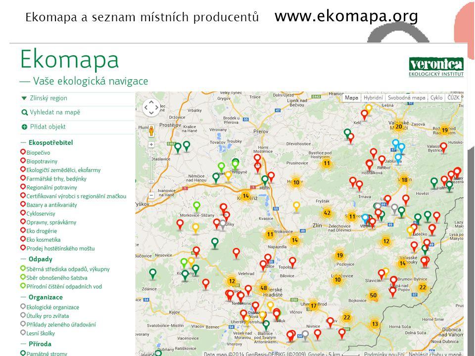 Ekomapa a seznam místních producentů www.ekomapa.org