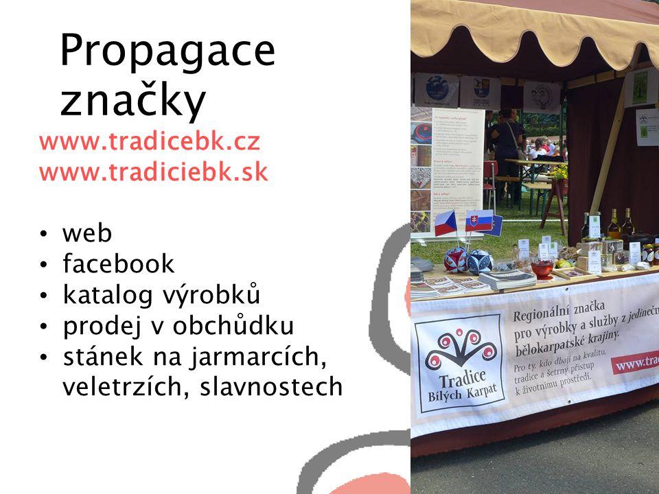 Propagace značky www.tradicebk.cz www.tradiciebk.sk web facebook katalog výrobků prodej v obchůdku stánek na jarmarcích, veletrzích, slavnostech
