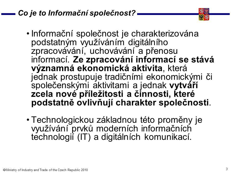 14  Ministry of Industry and Trade of the Czech Republic 2010 Soutěž – IT Projekt roku Od r.