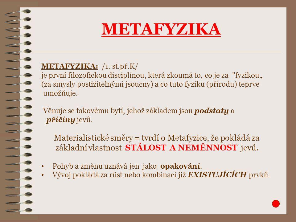 METAFYZIKA METAFYZIKA: /1.