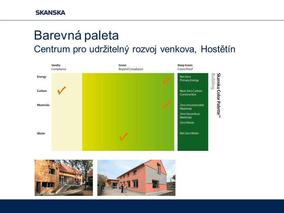 Centrum pro udržitelný rozvoj venkova, Hostětín Barevná paleta