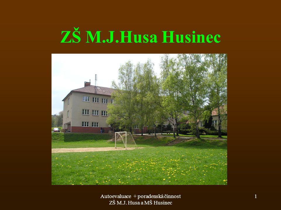 Autoevaluace + poradenská činnost ZŠ M.J. Husa a MŠ Husinec 1 ZŠ M.J.Husa Husinec
