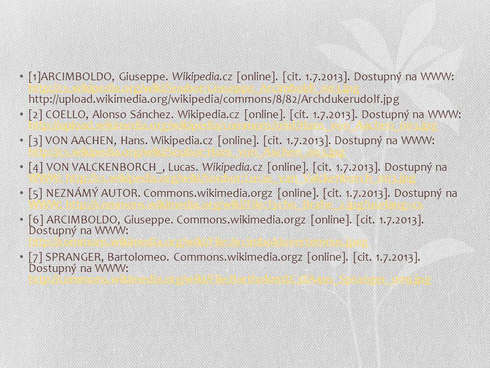 [1]ARCIMBOLDO, Giuseppe.Wikipedia.cz [online]. [cit.