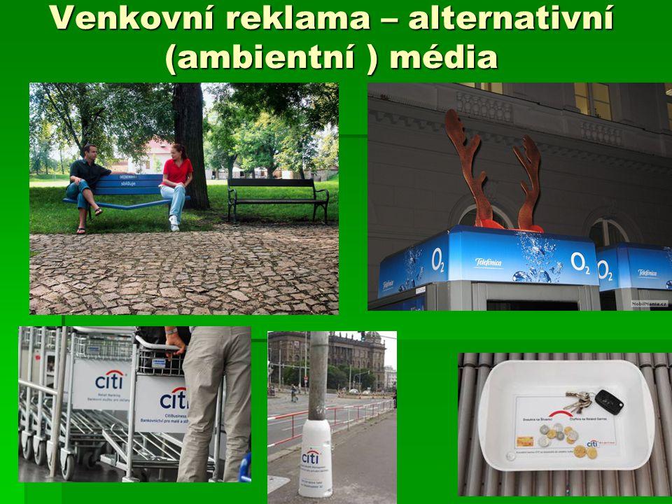 Venkovní reklama – alternativní (ambientní ) média