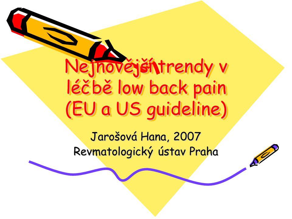 Back pain – rozdělení Neck pain – zdroj dyskomfortu – patologie Cp, systémové choroby.