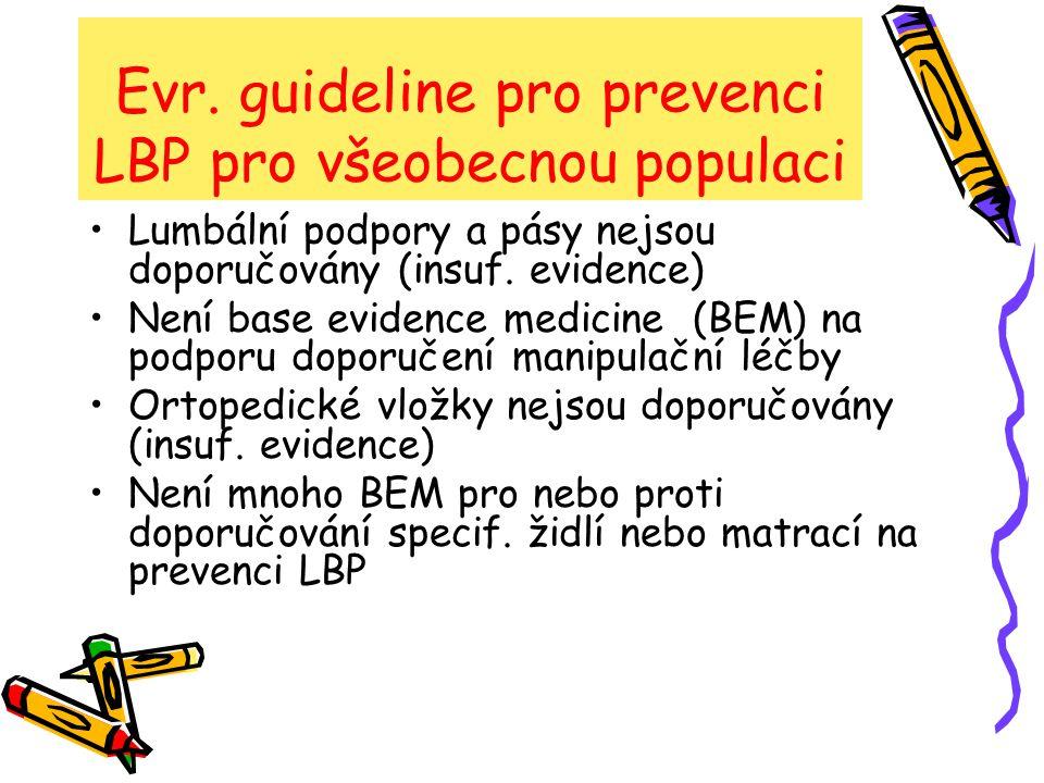 Evr.guideline pro řízení chron. nespecif.