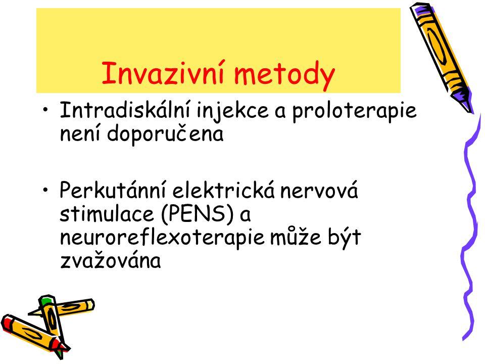 Invazivní metody Chirurgické řešení nespecif.