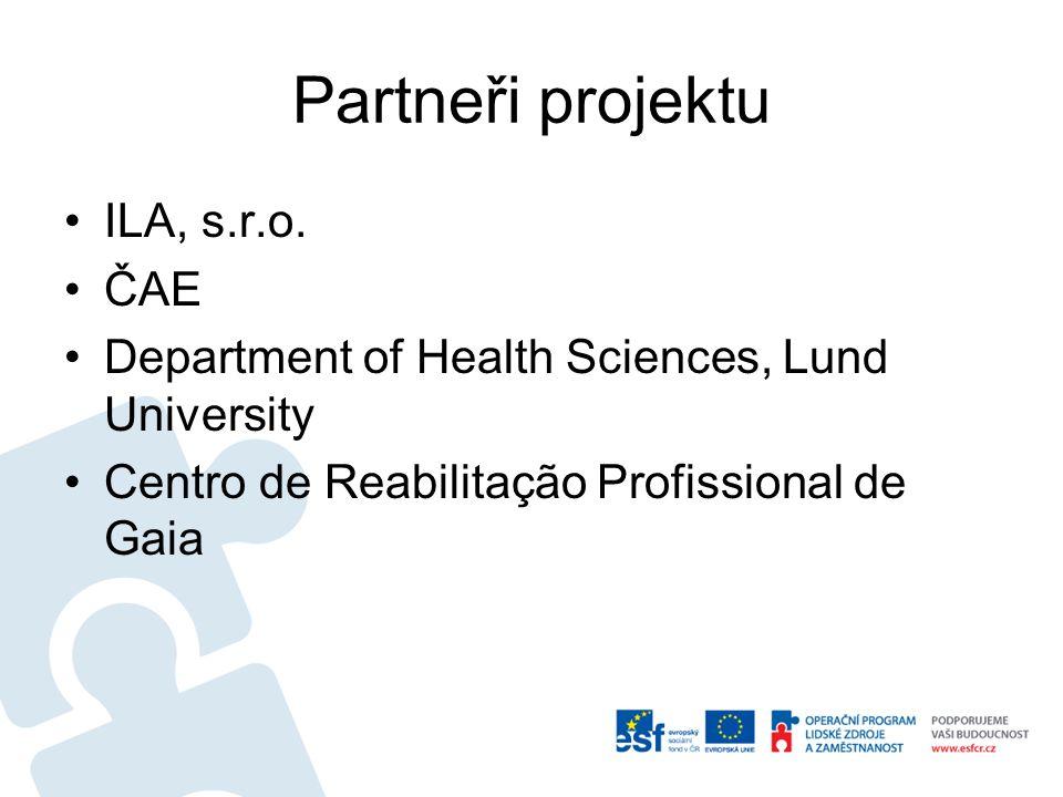 Partneři projektu ILA, s.r.o.