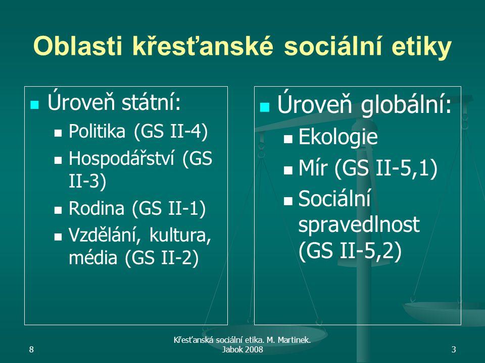 8 Křesťanská sociální etika.M. Martinek.