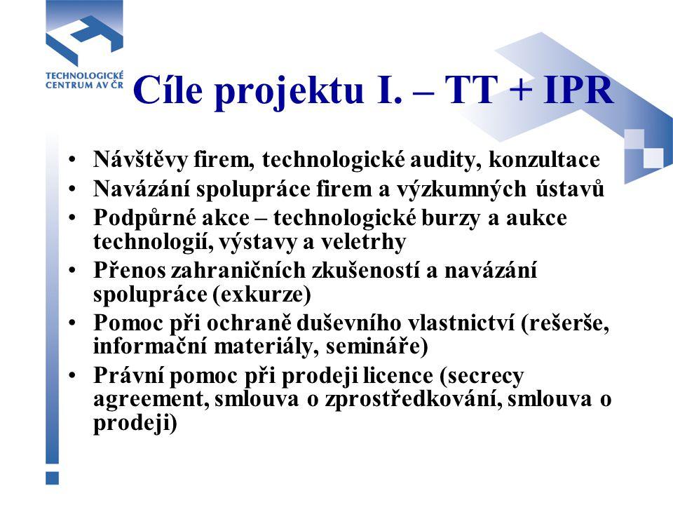 Cíle projektu I.