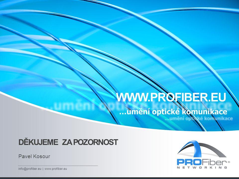 DĚKUJEME ZA POZORNOST Pavel Kosour info@profiber.eu | www.profiber.eu WWW.PROFIBER.EU