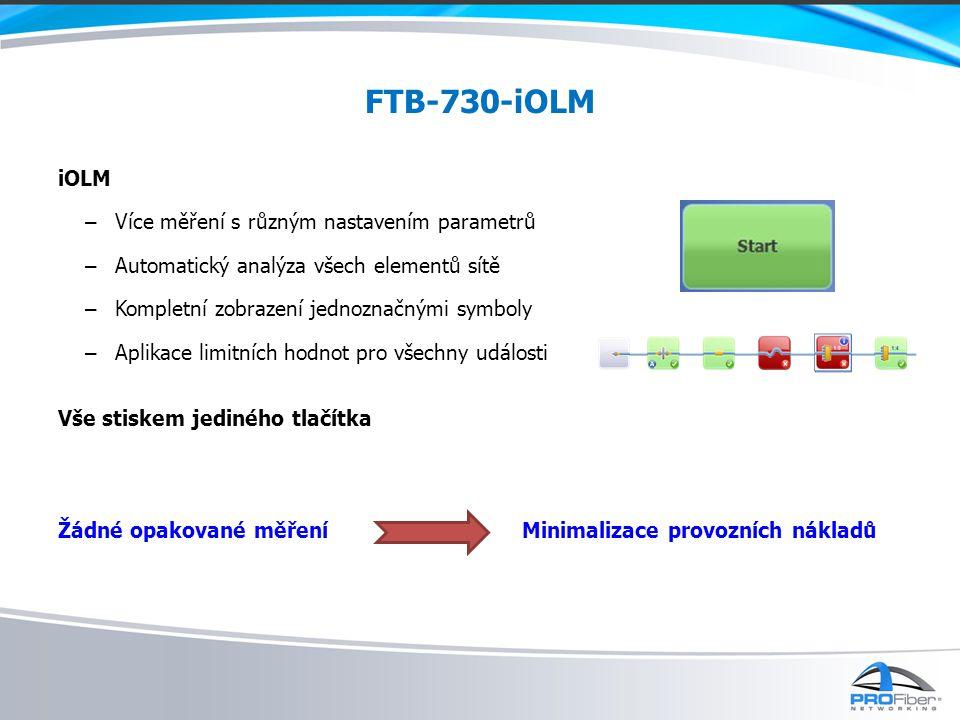FTB-730-iOLM Měření na živé síti – Lokalizace poruch za provozu PON sítě Nedostupná místa sítí Bod-Bod Figure: In-Service PON troubleshooting using 1625nm