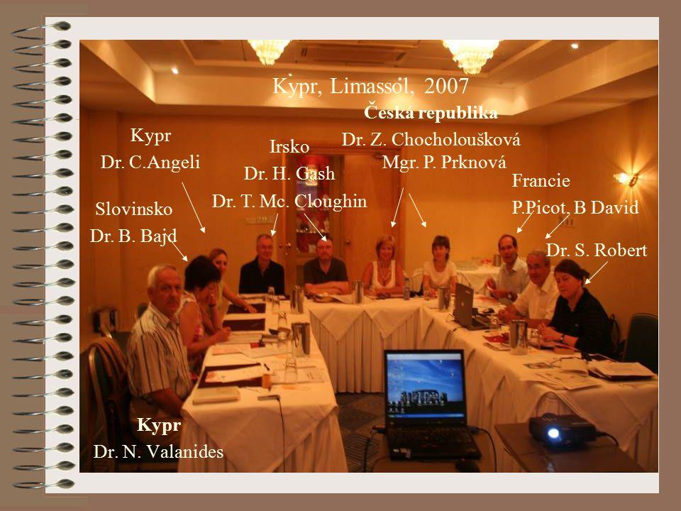 Kypr Dr. N. Valanides Slovinsko Dr. B. Bajd Kypr Dr. C.Angeli Irsko Dr. H. Gash Dr. T. Mc. Cloughin Česká republika Dr. Z. Chocholoušková Mgr. P. Prkn