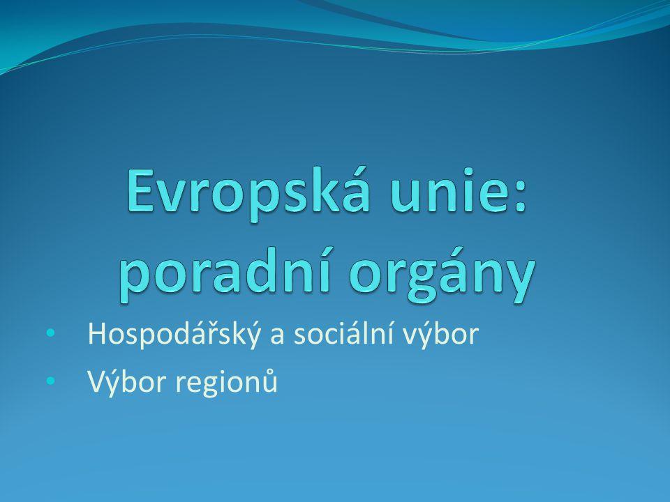 Hospodářský a sociální výbor Výbor regionů