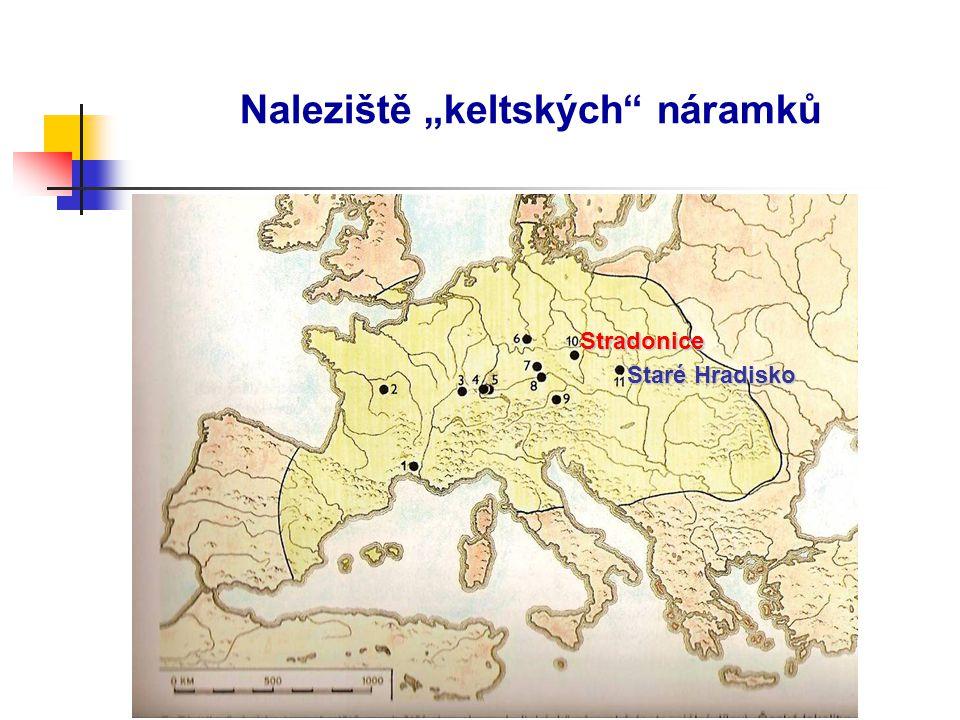 """Naleziště """"keltských"""" náramků Stradonice Staré Hradisko"""