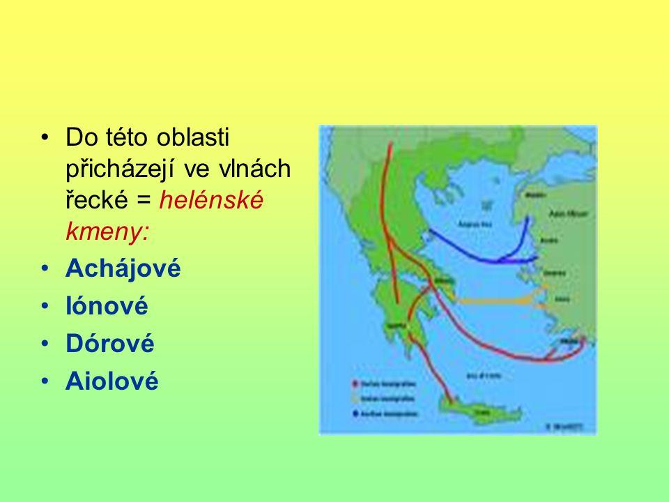 Nejstarší civilizační centra 1) Kréta – 2000 – 1600 př.