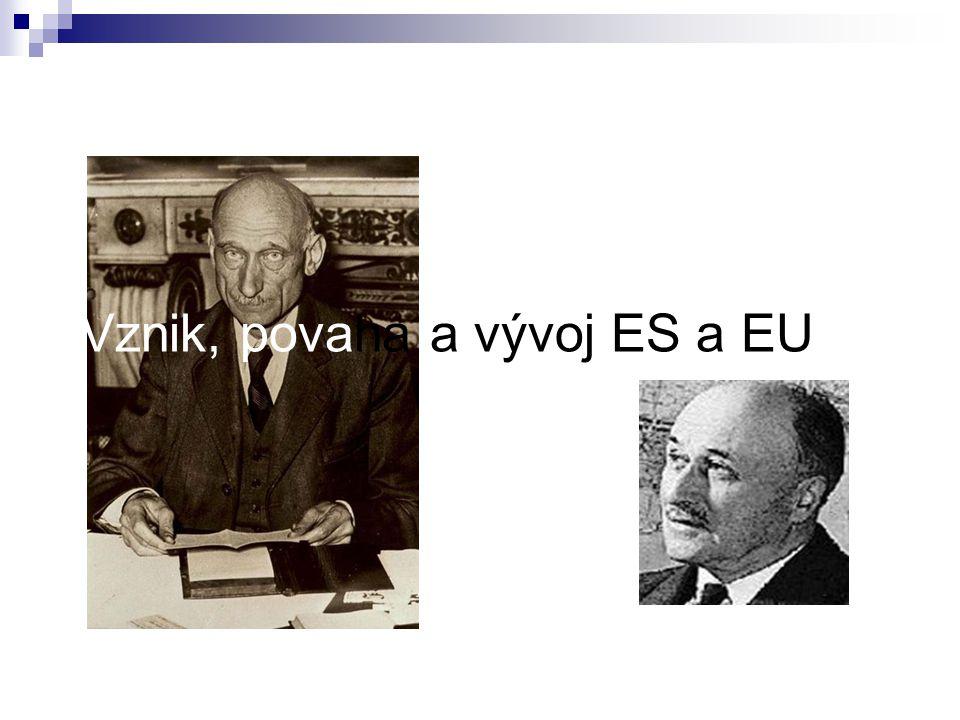 Vznik, povaha a vývoj ES a EU