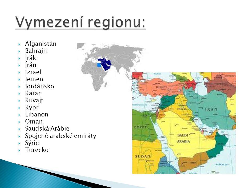  Írán 77 337 000  Turecko 75 626 000  Irák 33 330 000  Saudská arábie 29 196 000  Afganistá 25 500 000  Sýrie 22 058 000  Izrael 8 002 000)  Emiráty 8 264 000  Jorsánsko 6 284 000libanon 4 324 000  Palestina 4 293 000  Kuvajt 3 582 000  Omán 2 774 000  Katar 1 917 000  Bahrajn 1 235 000  Kypr 862 000