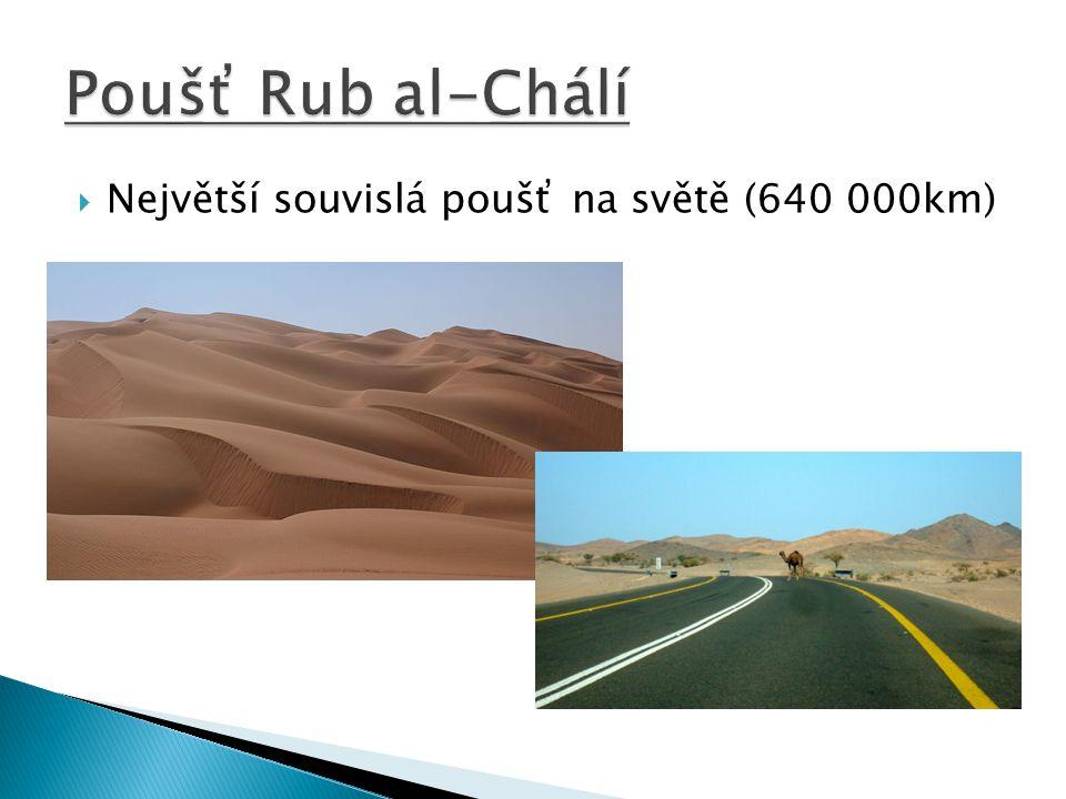  Největší souvislá poušť na světě (640 000km)