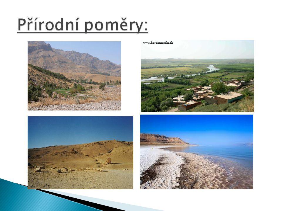  Kontinentální, suché, subtropické  Pobřeží Černého a Středozemního moře – středomořské klima  Írán, Afganistán, Arabský p.