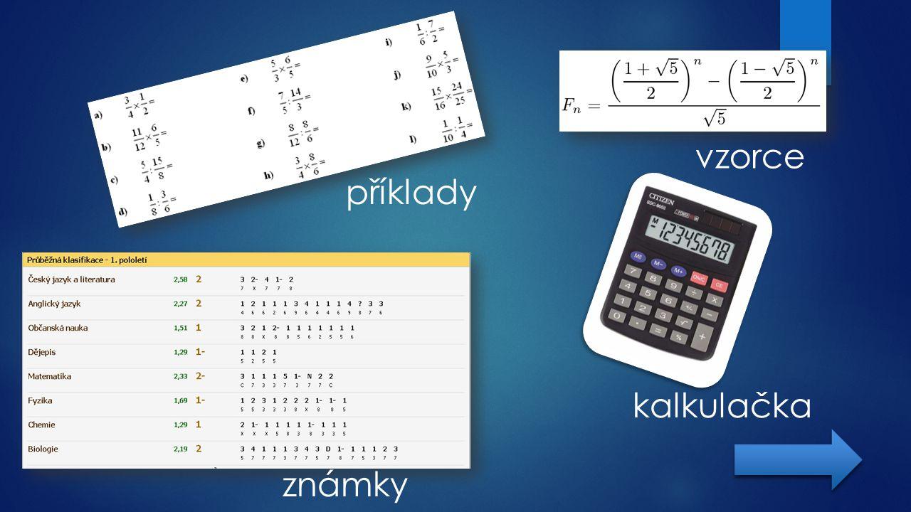 vzorce kalkulačka příklady známky