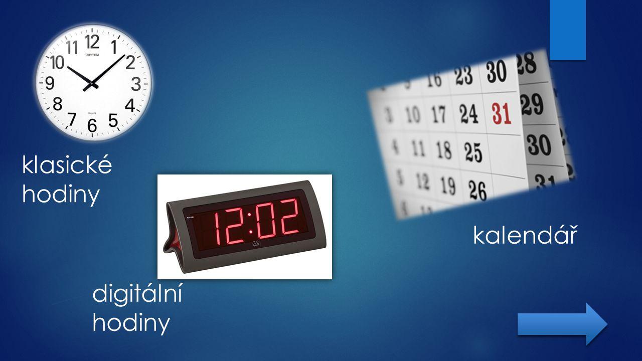 klasické hodiny digitální hodiny kalendář