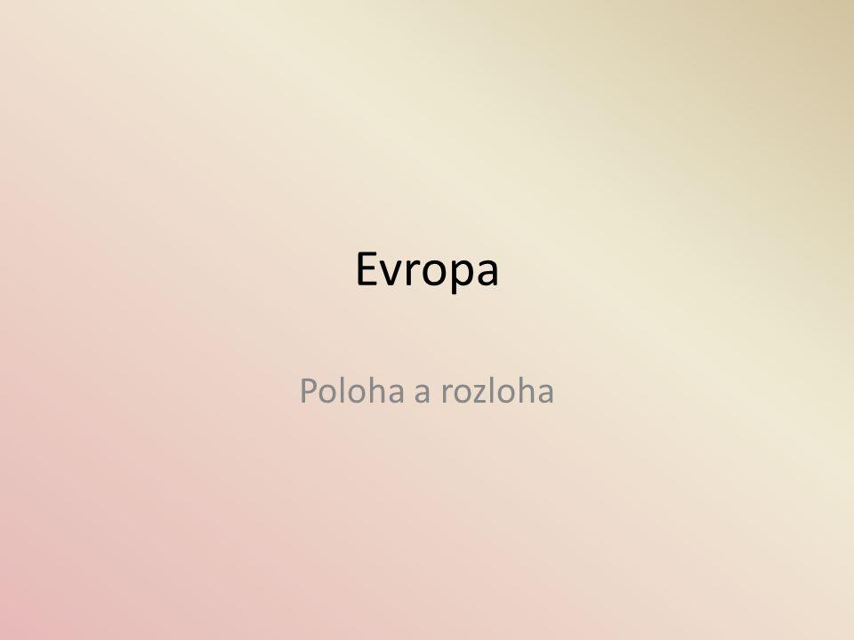 Evropa spolu s Asií tvoří Euroasii (1 pevnina, ale 2 kontinenty) » Evropa  10,5 mil.