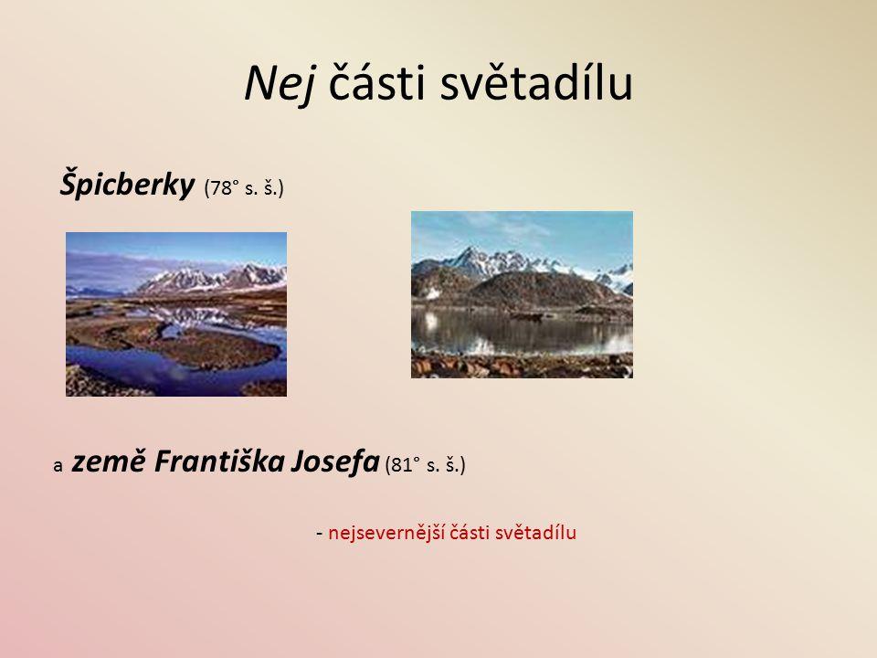 Nej části světadílu ostrovy Gaudos a Kypr (35° s. š.) - nejjižnější část světadílu