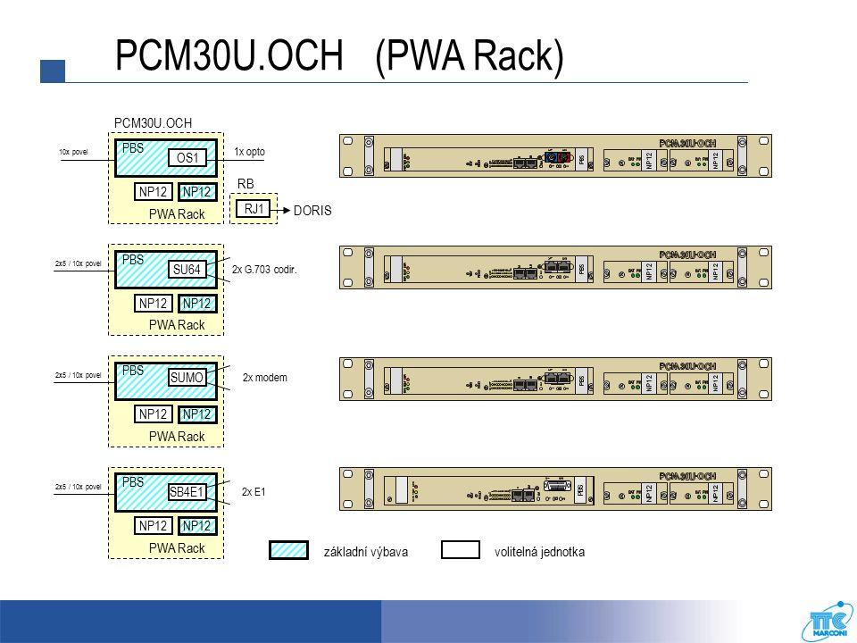 PBS PCM30U.OCH PW Rack PBS CJAB JROO 2x5 / 10x povel RO3 RJ1 DORIS RB PCM30U.OCH PW Rack RO3 CJAB JROO 2x 50 Hz (ROR) PCM30U.OCH (PW Rack) 2x opto