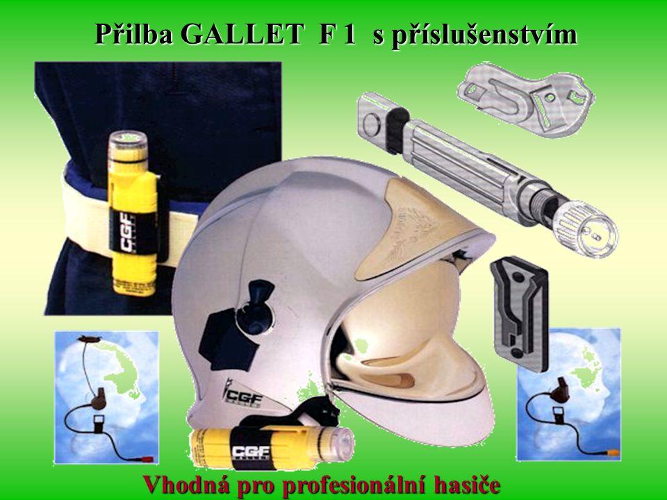 Přilba GALLET F 1 s příslušenstvím Vhodná pro profesionální hasiče
