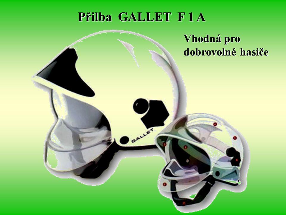 Přilba GALLET F 1 A Vhodná pro dobrovolné hasiče