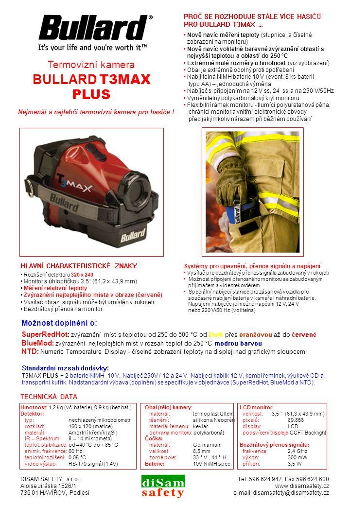 Nejmenší a nejlehčí termovizní kamera pro hasiče .