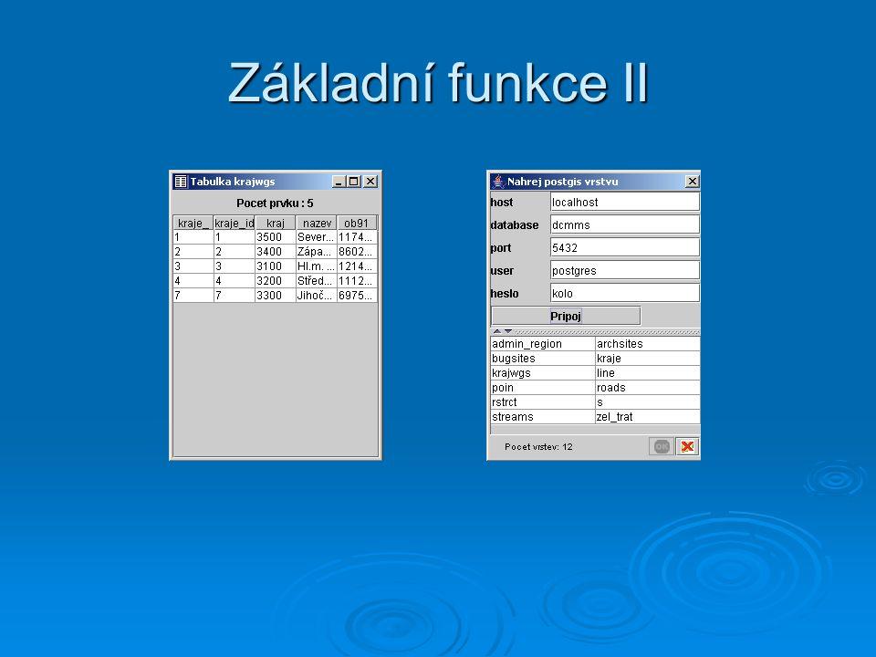 Základní funkce II