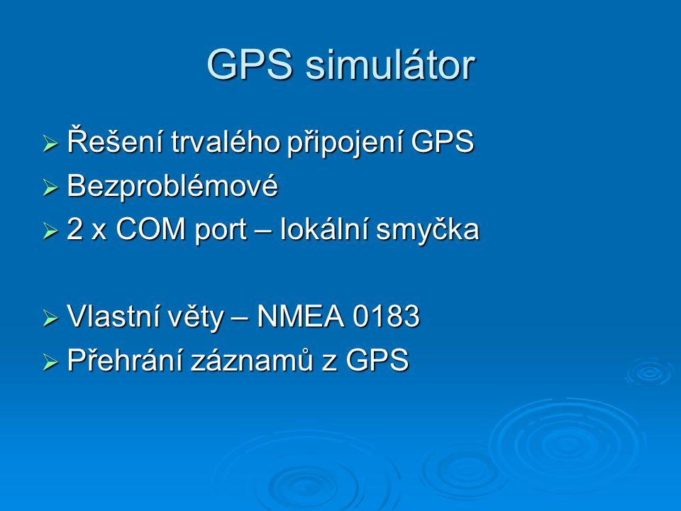 Využití programu  Náhrada ArcPadu :o)  Grafický základ  Jednoduchý navigační systém pro hasiče