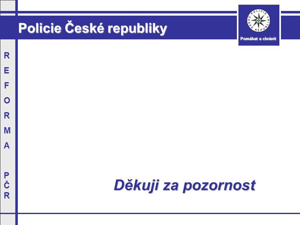 Policie České republiky Pomáhat a chránit REFORMAPČRREFORMAPČR Děkuji za pozornost Děkuji za pozornost