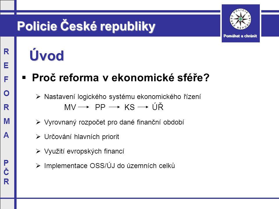 Policie České republiky Pomáhat a chránit REFORMAPČRREFORMAPČR Ekonomické postavení PČR Rozpočet (v mil.